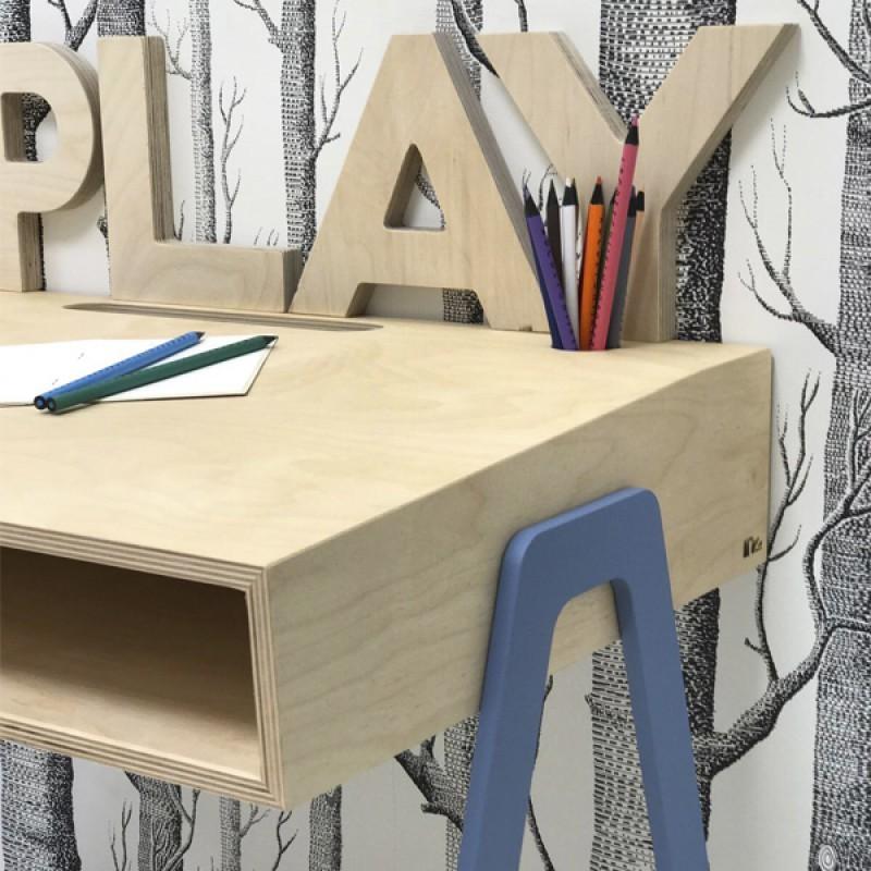 bureau d 39 enfant en bois. Black Bedroom Furniture Sets. Home Design Ideas