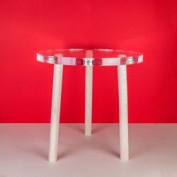 Table basse Bois & Plexi