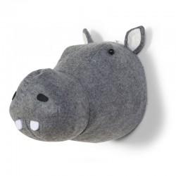 Tête d'hippopotame murale