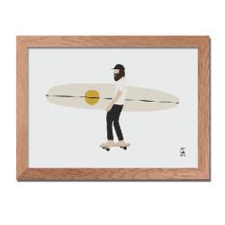 Illustration Surf Culture - Skate board
