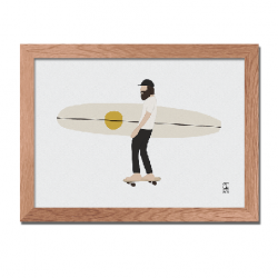 Illustration Surf Culture - Skate board