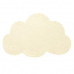 Tapis nuage jaune pâle