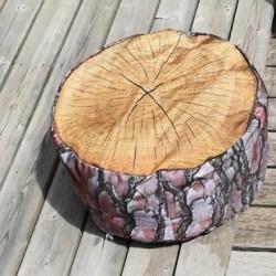 Pouf gonflable - Rondin de bois