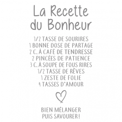 Sticker mural - Bonheur