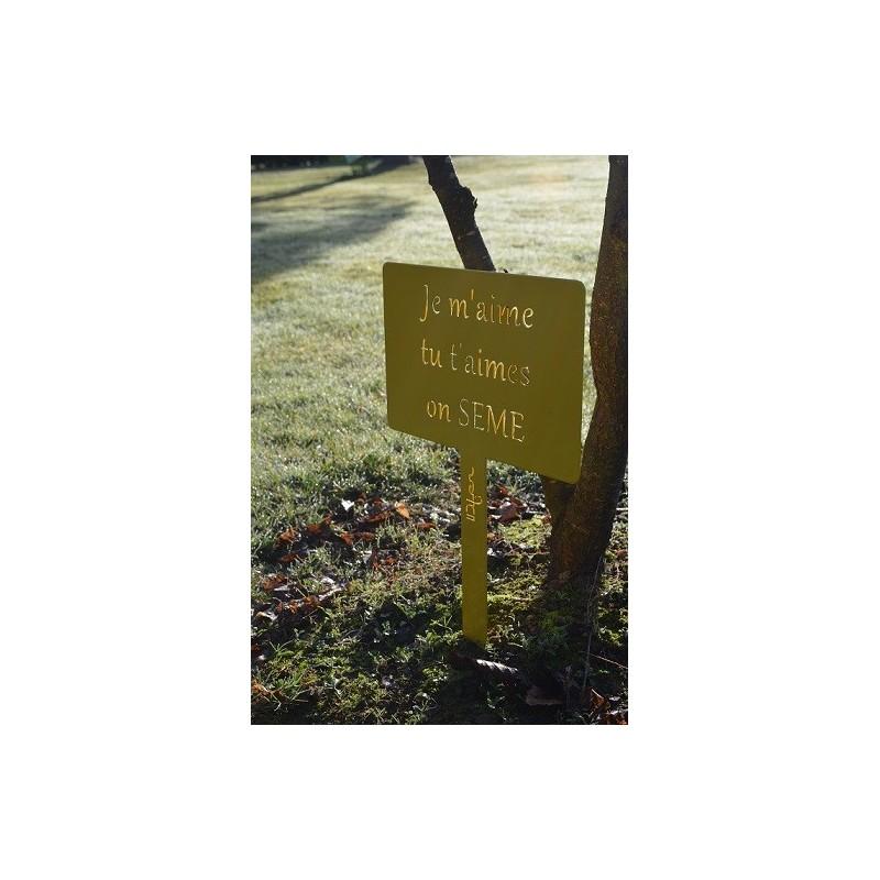 Etiquette de jardin g ante a planter en pot ou pleine terre - Etiquette jardin ...