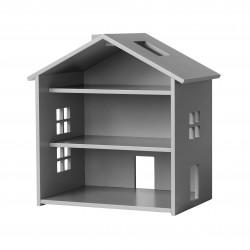 Petite maison de poupée en bois - Grise