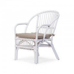 Chaise enfant - Rotin blanc