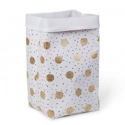 Panier à linge - Confettis or