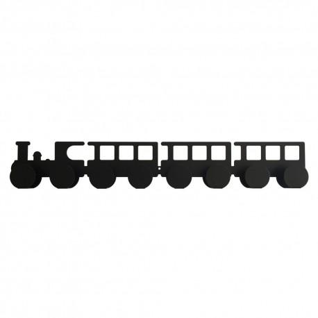 Porte manteaux - Petit train noir