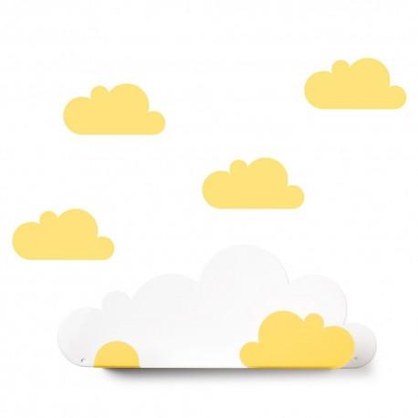 Etagère nuages. Jaune