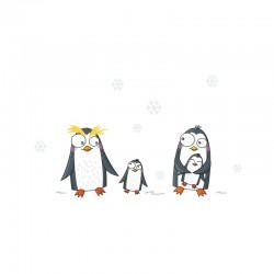 Sticker mural - Famille Pingouins