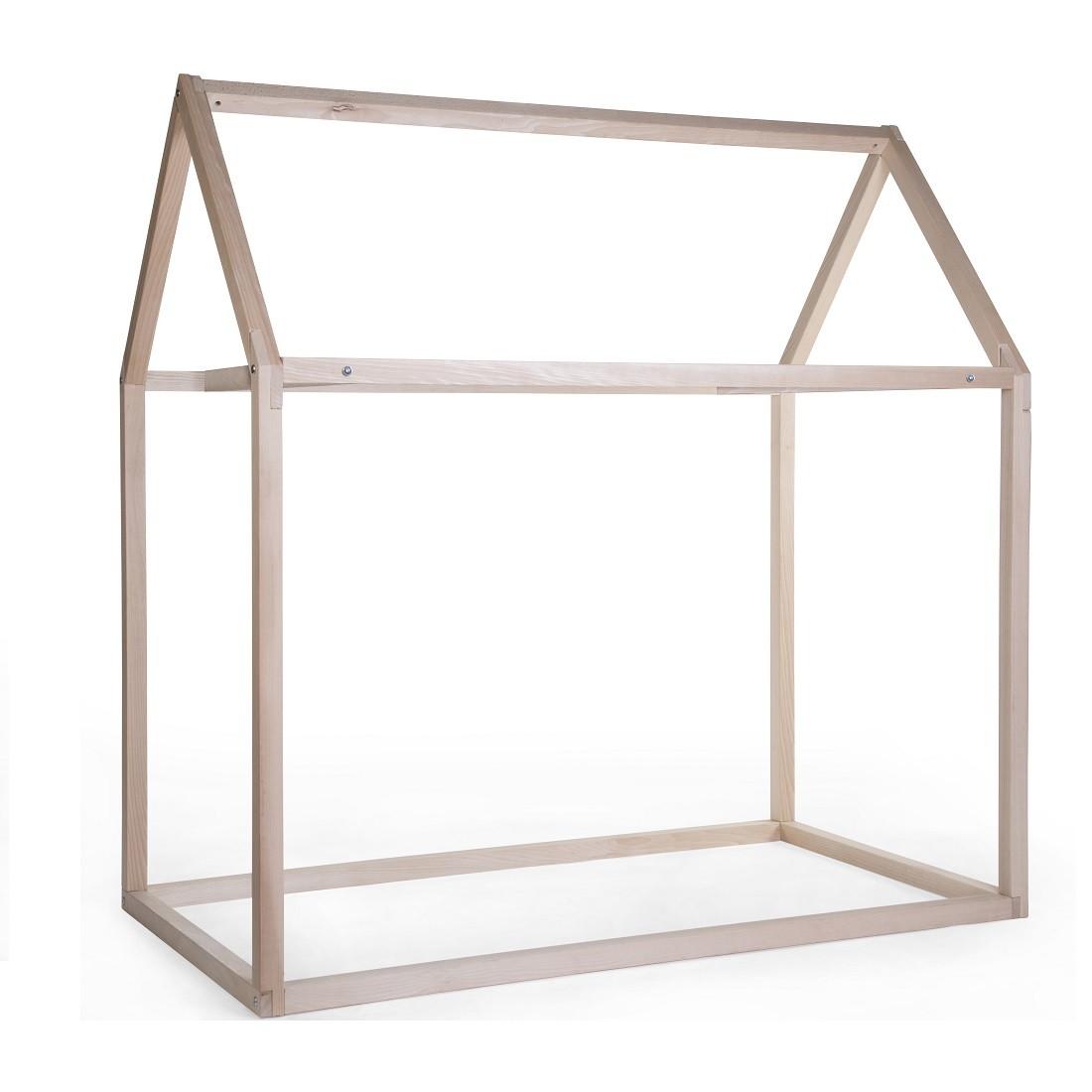 cadre en bois - lit maison 90 x 200