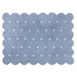Tapis Petit biscuit bleu réversible 120 x 160 cm