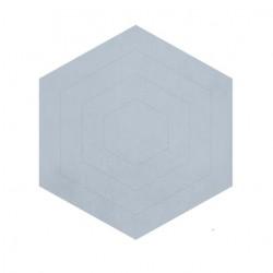 Tapis hexagonal - Bleu