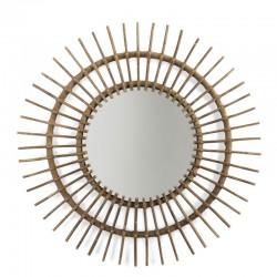 Miroir en rotin soleil