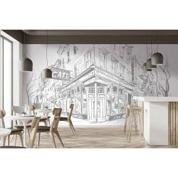 Papier peint Bar café