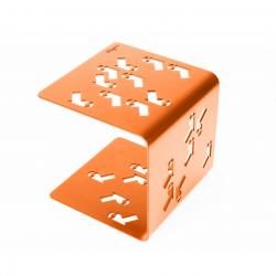 Tabouret de jardin en Acier - Orange