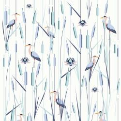 Papier peint Roseaux - Hiver