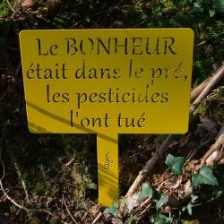 Etiquette de jardin BONHEUR
