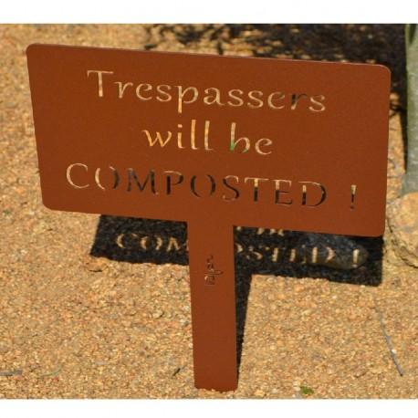 Etiquette de jardin COMPOSTED