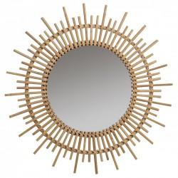 Grand miroir en rotin 80 cm