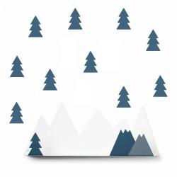 Etagère montagne. Bleu