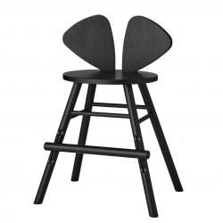 Chaise haute noire - Souris
