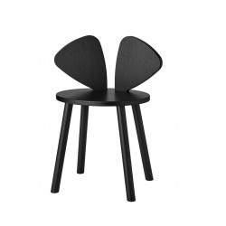 Chaise souris noire - 6/10 ans