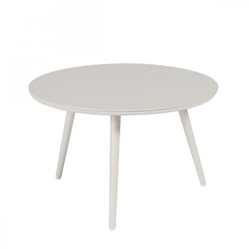 Table basse de jardin en aluminium ronde