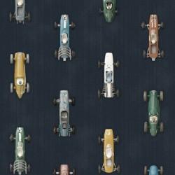 Papier peint 2 lés - Vieilles voitures de course