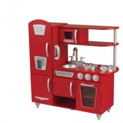 Cuisine en bois - Vintage Rouge