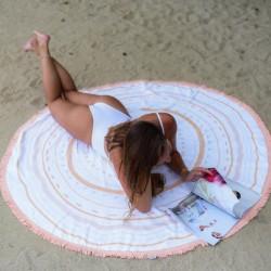 Serviette de plage ronde - Aztèque
