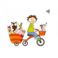 Sticker Balade en vélo à la campagne