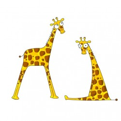 Sticker Mr & Mrs Girafe