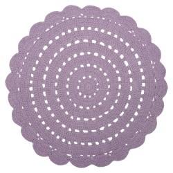 Tapis crocheté - Mauve