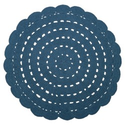 Tapis crocheté - Bleu foncé