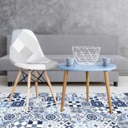 Tapis vinyle - Carreaux Ciment Bleu