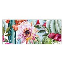 Tapis vinyle - Fleurs exotiques