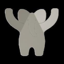 Porte manteaux éléphant gris