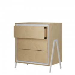 Commode 3 tirroirs - Blanc