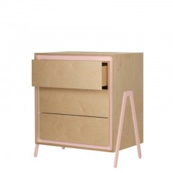 Commode 3 tirroirs - Rose
