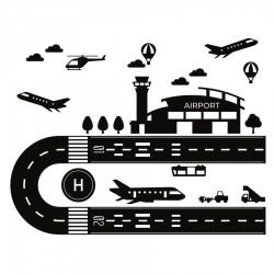 Circuit aéroport autocollant