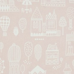 Papier peint - Pink city