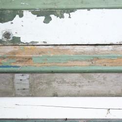 Papier peint - Lames de bois vertes