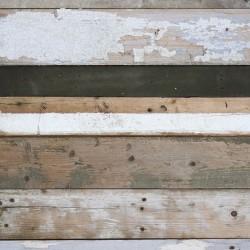 Papier peint - Lames de bois noires et blanches