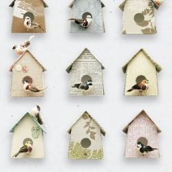 Papier peint - Cages à oiseaux