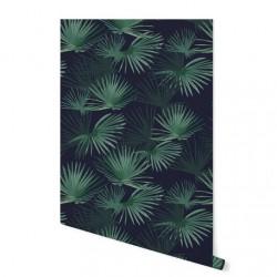 Papier peint - Noir palmier