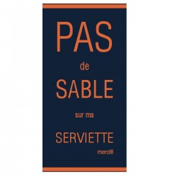 Serviette de plage XL orange - Pas de sable