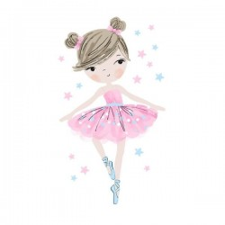 Sticker Ballerine rose
