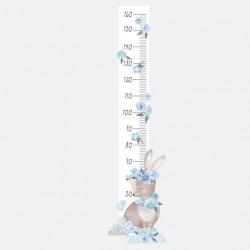 Sticker toise - Lapin bleu